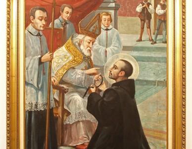 S. João de Deus recebe o hábito do Bispo de Tui