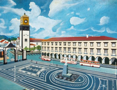 Vista das Portas da Cidade em Ponta Delgada